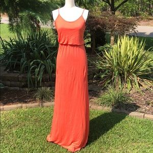 Wet Seal coral maxi dress